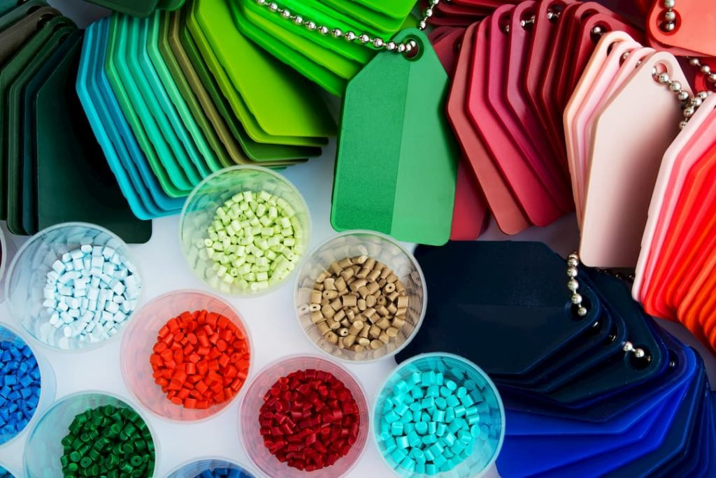 different types of thermoplastic resin samples